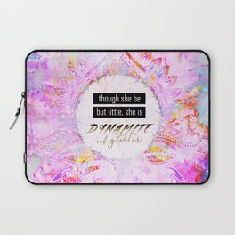 Watercolor Pastel Boho Dynamite and Glitter Laptop Sleeve