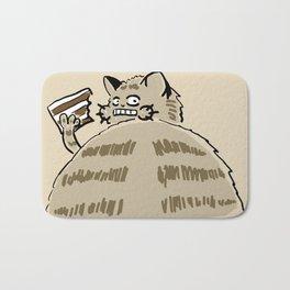 Fat Cat Wants Treats Bath Mat