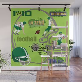 I Love Football! Sports, Football, Game Day Wall Mural
