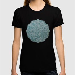 art Nouveau,teal,William Morris style, floral,chic,elegant,modern,trending,victorian decor,floral pa T-shirt
