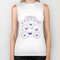 cookies Biker Tanks featuring Cookies by Artificial primate