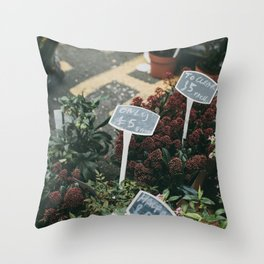 Columbia Road Flower Market, London Throw Pillow