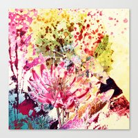 aelwen Canvas Prints featuring waterlily by clemm