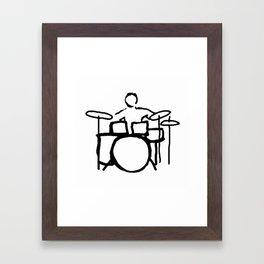 Drummer expert Framed Art Print