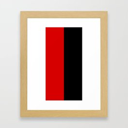 Psychedelic black and red stripes VII. Framed Art Print