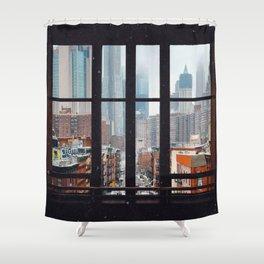 New York City Window Duschvorhang