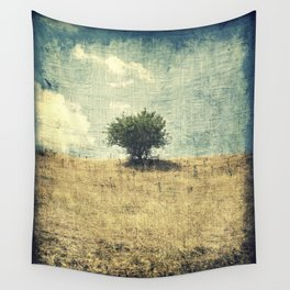 Lonely Tree in the Center Wall Tapestry