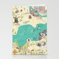 princess bride Stationery Cards featuring Princess Bride Discovery Map by Wattle&Daub