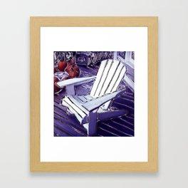 Adirondack Chair Framed Art Print