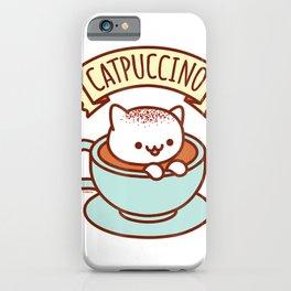 Kawaii Cat T-Shirt CATPUCCINO iPhone Case