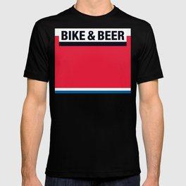 Bike & Beer by Dennis Weber of ShreddyStudio T-shirt