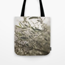Olive Tree Leaves in the Mist Tote Bag