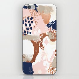 Sonia - rose gold navy copper modern abstract rosegold trendy pattern cell phone accessories iPhone Skin