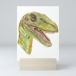 Velociraptor Watercolor Painting Mini Art Print