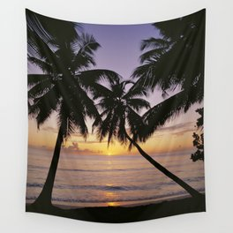 Tropical sunset, Mahe island, the Seychelles Wall Tapestry