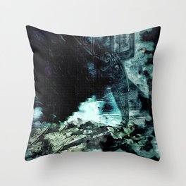 Shoved: Victoria - The Dweller in the Dark Throw Pillow