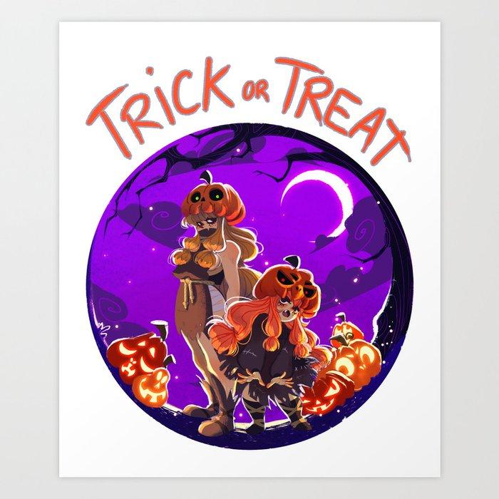 Trick or Treat - Jack 'O' lantern Art Print