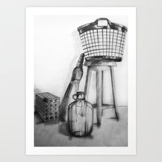 hand drawing objects Art Print