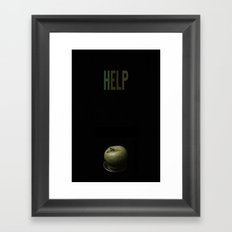 hlep! apple Framed Art Print