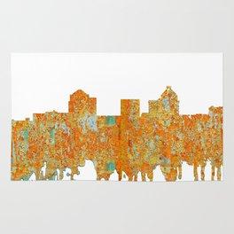 Greensboro, NC Skyline - Rust Rug