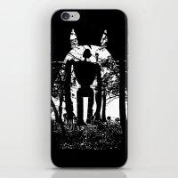 miyazaki iPhone & iPod Skins featuring Miyazaki Forest by kamonkey