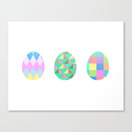 Egg Trio Canvas Print