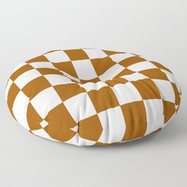 Checker (Brown/White) Floor Pillow