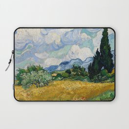 Wheat Field with Cypresses - Vincent van Gogh Laptop Sleeve