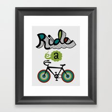 Ride a Bike 3  Framed Art Print