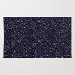 Hornfels 01 - deep indigo texture Rug