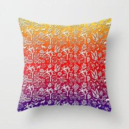 Rainbow White Joshua Tree by CREYES Throw Pillow