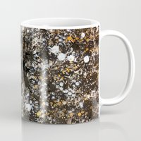 black and gold Mugs featuring Black Gold by Tyler Resty