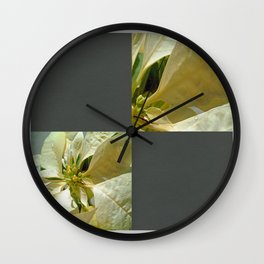 Pale Yellow Poinsettia 1 Blank Q6F0 Wall Clock