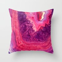 agate Throw Pillows featuring Agate by lescapricesdefilles