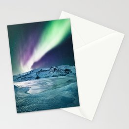 aurora in iceland Stationery Cards