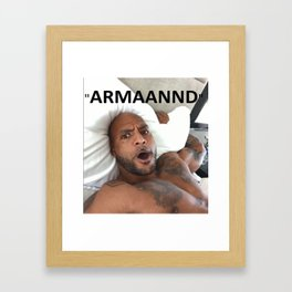 Booba vs Kaaris - Armaannd Framed Art Print