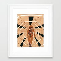 2001 Framed Art Prints featuring 2001  by Nick Wesley
