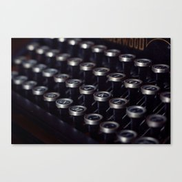 Letters typewriter Canvas Print