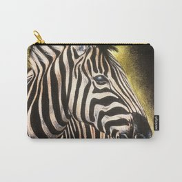 Zebradrawing, 9x12in, pastel pencil Carry-All Pouch