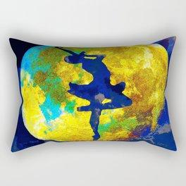 BALLET DANCER AND THE MOON Rectangular Pillow