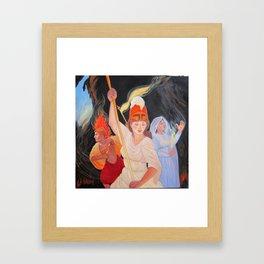 Battle the Darkness Framed Art Print