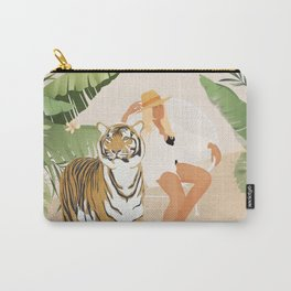 The Lady and the Tiger Carry-All Pouch