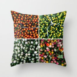Tulips from Holland - orange & yellow Throw Pillow