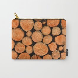 stack of wood Carry-All Pouch