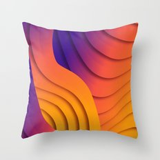 Bold Waves Throw Pillow