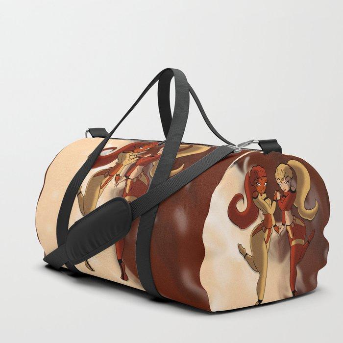 Vanilla and Chocolate Duffle Bag