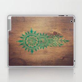 emerald green rustic mandala Laptop & iPad Skin