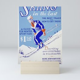 American Guide Series - Skiing in the East (1939) Mini Art Print