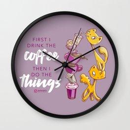 Drink coffee, do things: Skribbles + Dad Wall Clock