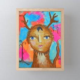 Mamma Tribal Peep Framed Mini Art Print